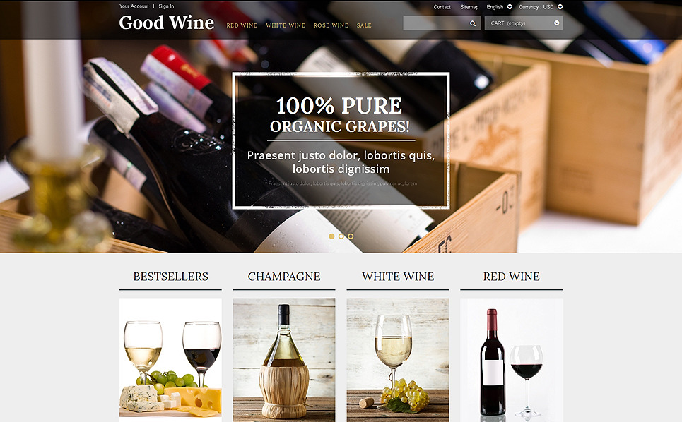 Responsive Şarapçılık  Prestashop Teması New Screenshots BIG