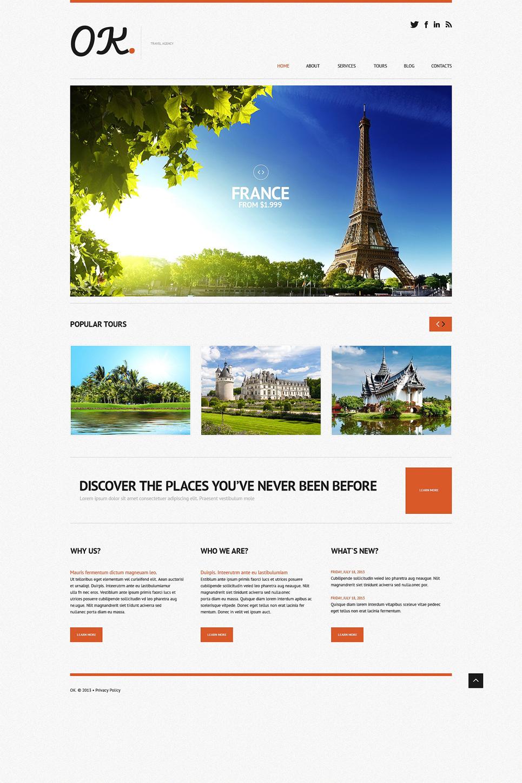 Адаптивный шаблон сайта на тему агентство путешествий #50614