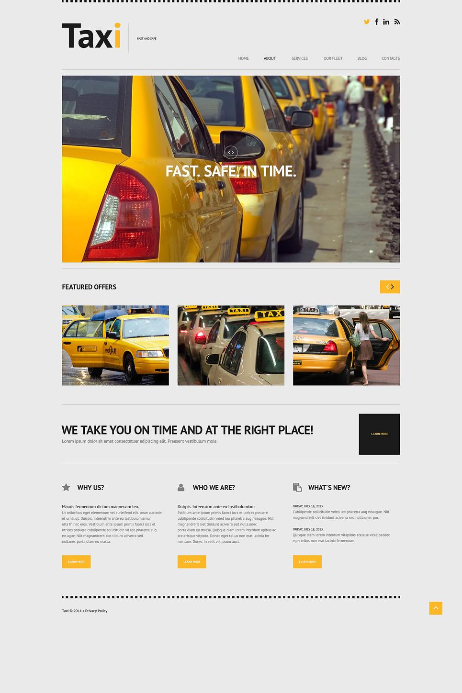 Адаптивный шаблон сайта на тему такси #50615