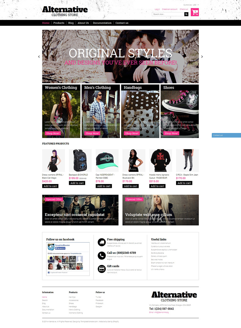 Alternative Outfit Shopify Theme New Screenshots BIG