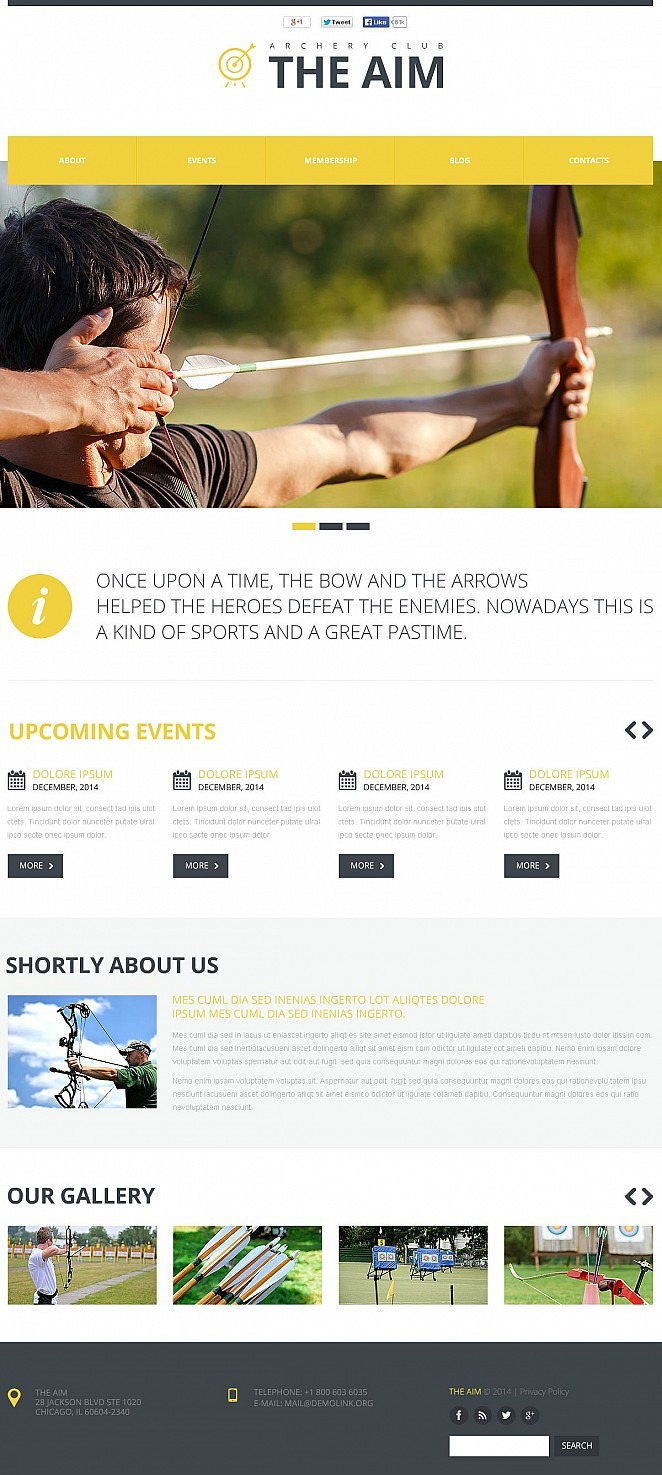 Archery Flash CMS Template New Screenshots BIG