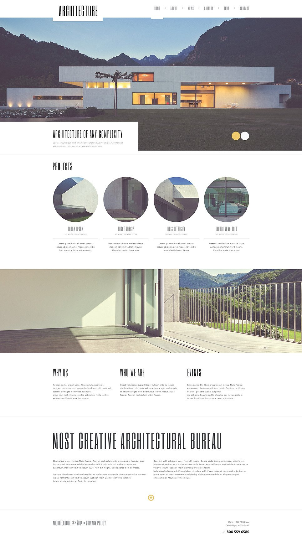 Architecture Guru WordPress Theme New Screenshots BIG