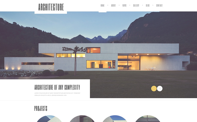 Architecture Guru WordPress Theme