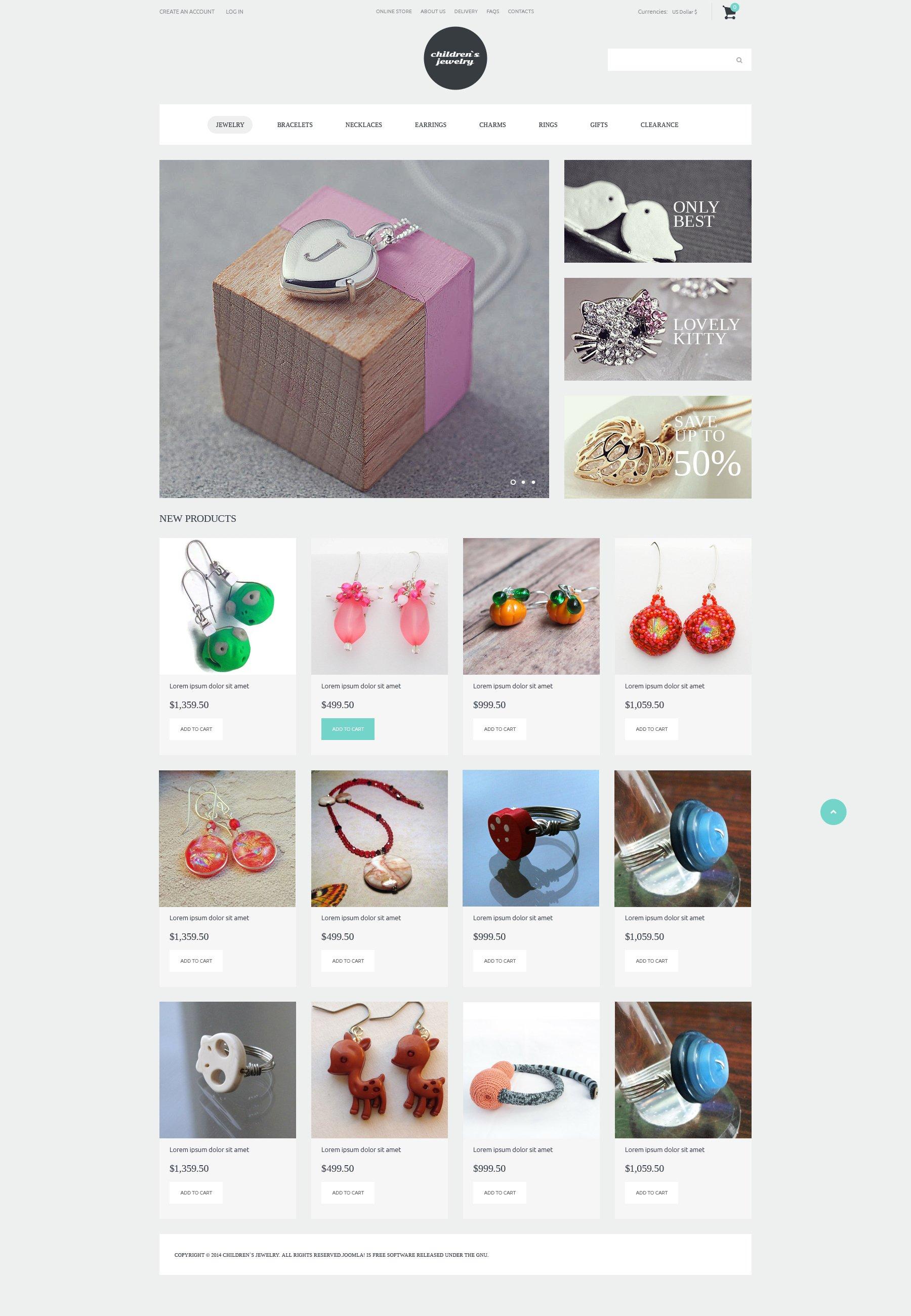 """""""Bijoux pour les jeunes Fashionista"""" thème VirtueMart  #50695"""