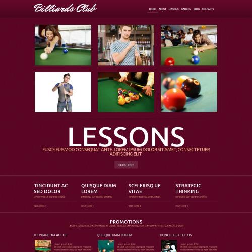 Billiards Club - WordPress Template based on Bootstrap