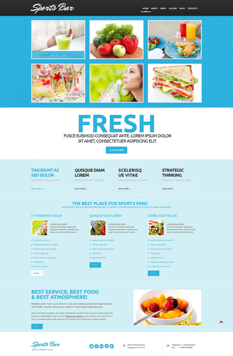 Cafe Responsive WordPress Theme New Screenshots BIG