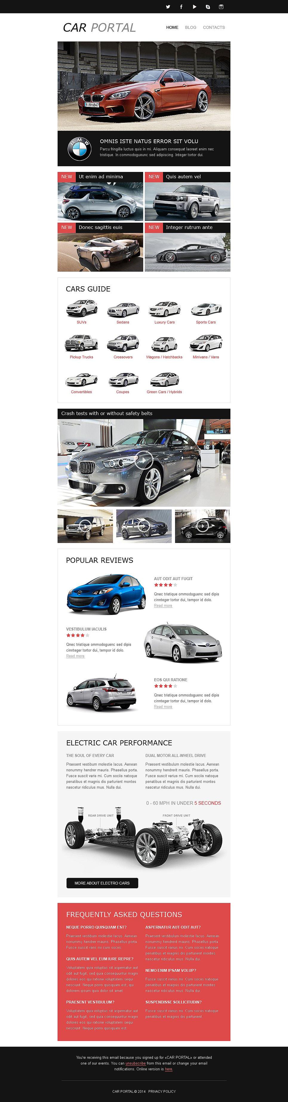 car club responsive newsletter template #50679