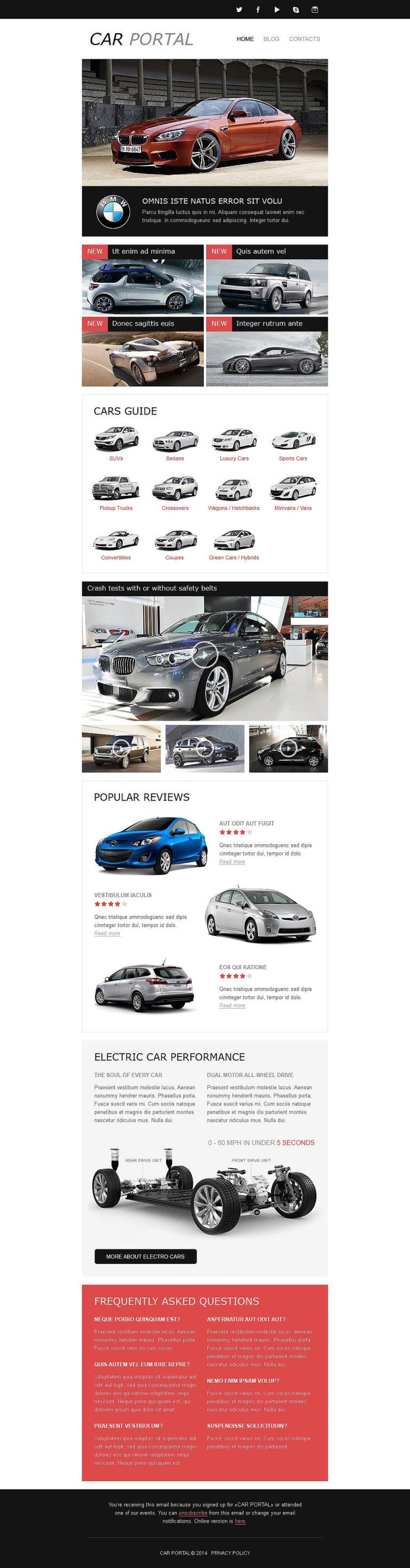 Car Club Responsive Newsletter Template New Screenshots BIG
