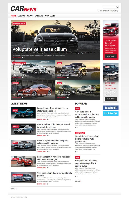 Car Responsive Joomla Template New Screenshots BIG