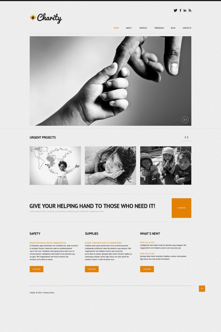 Child Charity Responsive WordPress Theme New Screenshots BIG