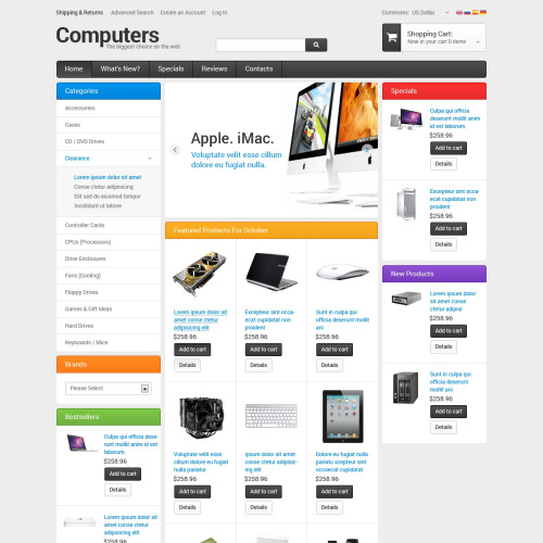 Computers - osCommerce Template