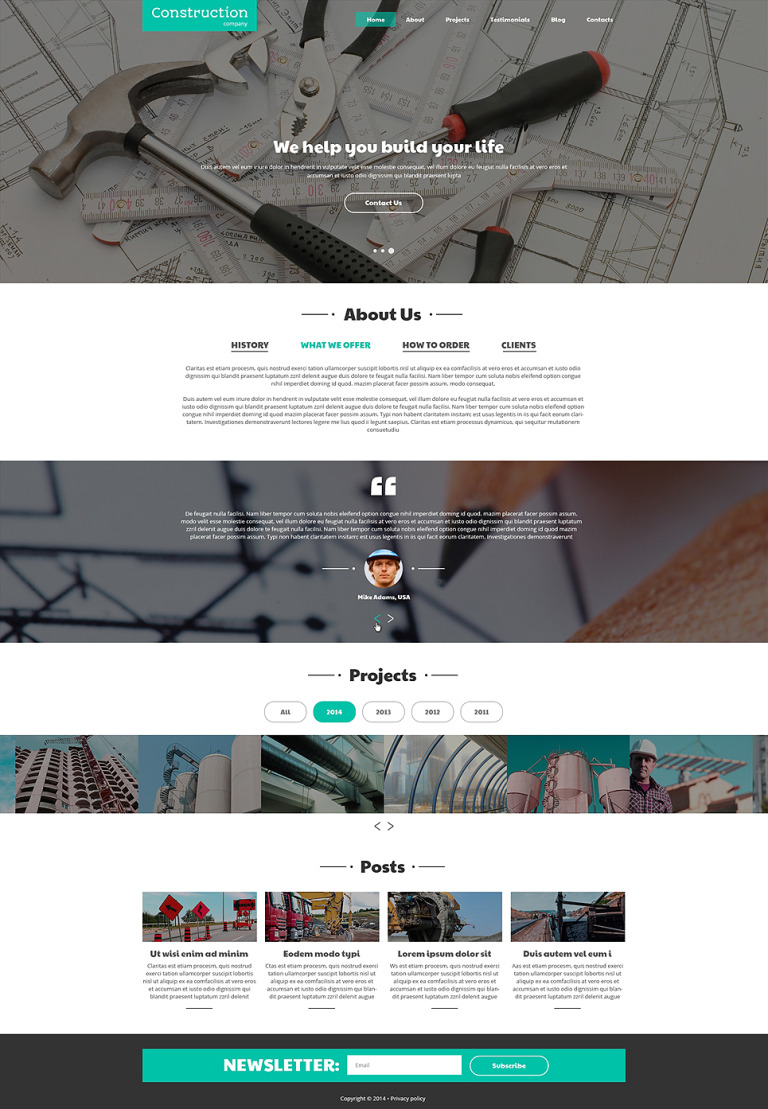 Construction Companies Joomla Template New Screenshots BIG