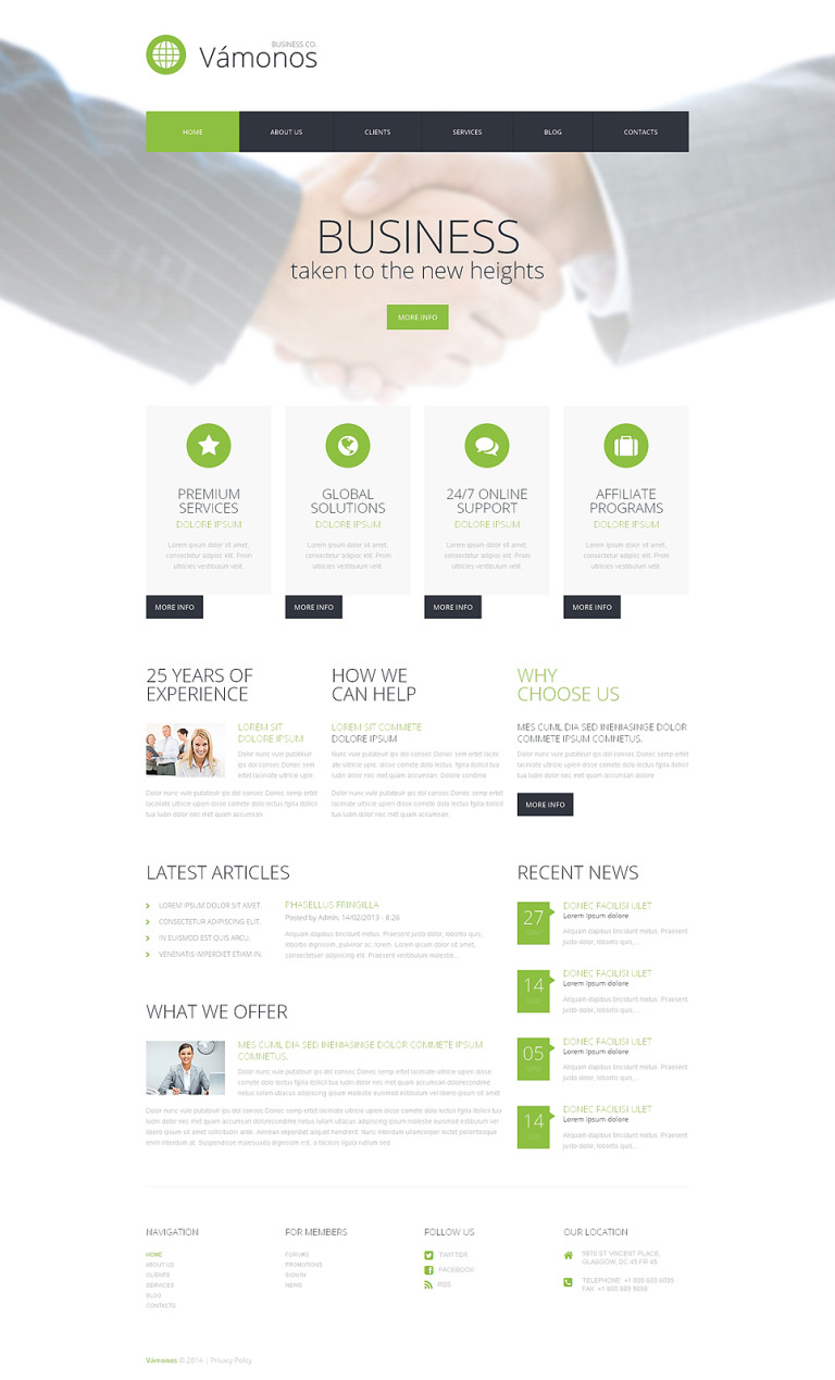Doing Business WordPress Theme New Screenshots BIG