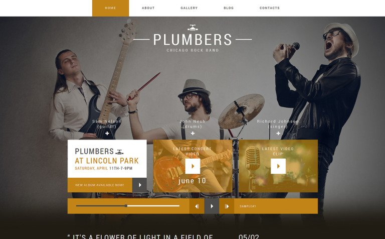 Dream Rock Band Project Joomla Template