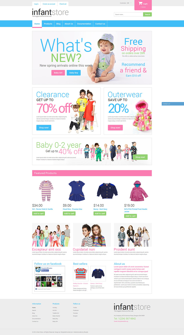 Dressing Kids in Style Shopify Theme New Screenshots BIG