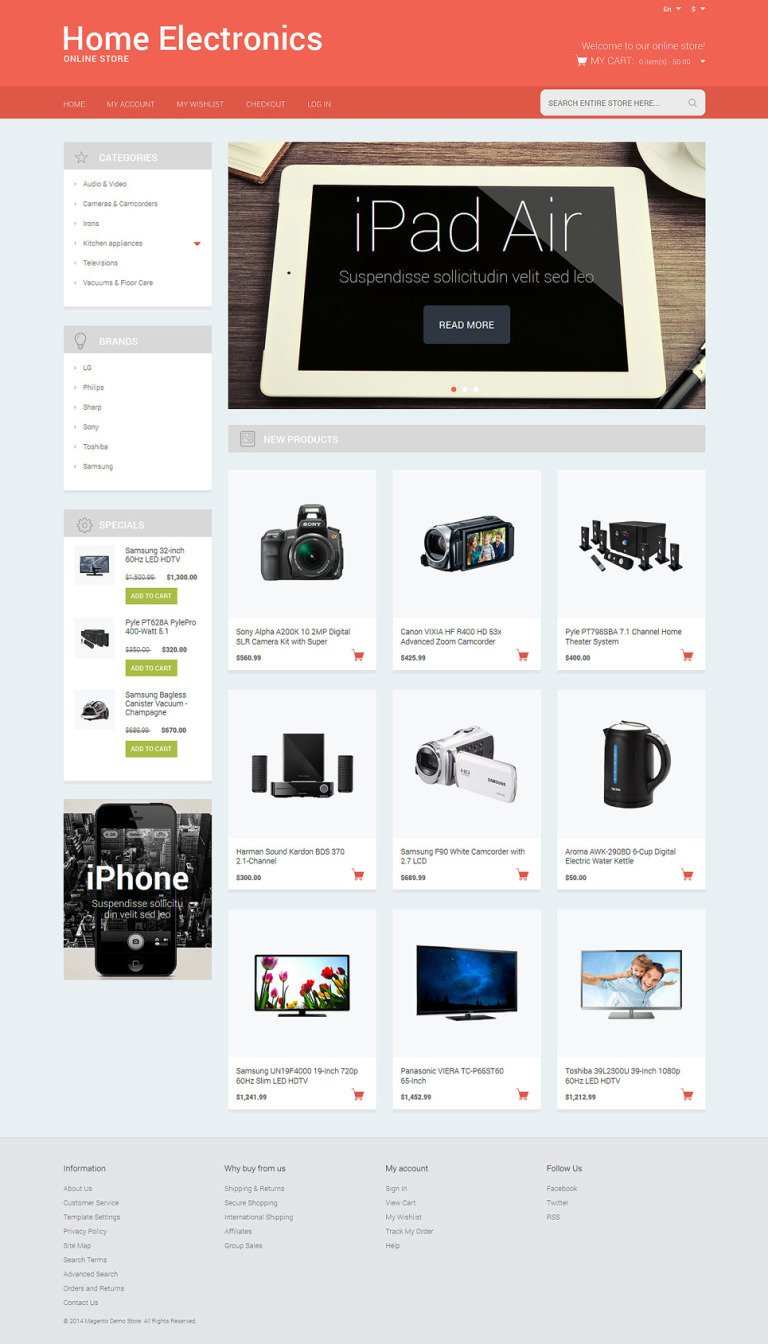 Electronics Responsive Magento Theme New Screenshots BIG