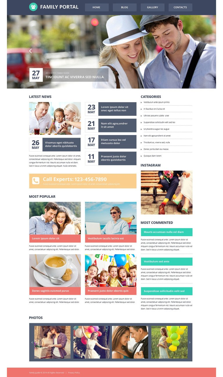 Family Center Responsive Website Template New Screenshots BIG