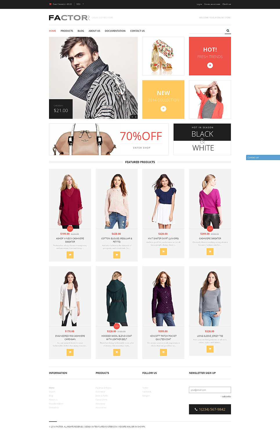 Shopify clothing store examples