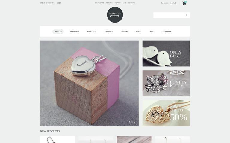 Fashionista Jewelry VirtueMart Template