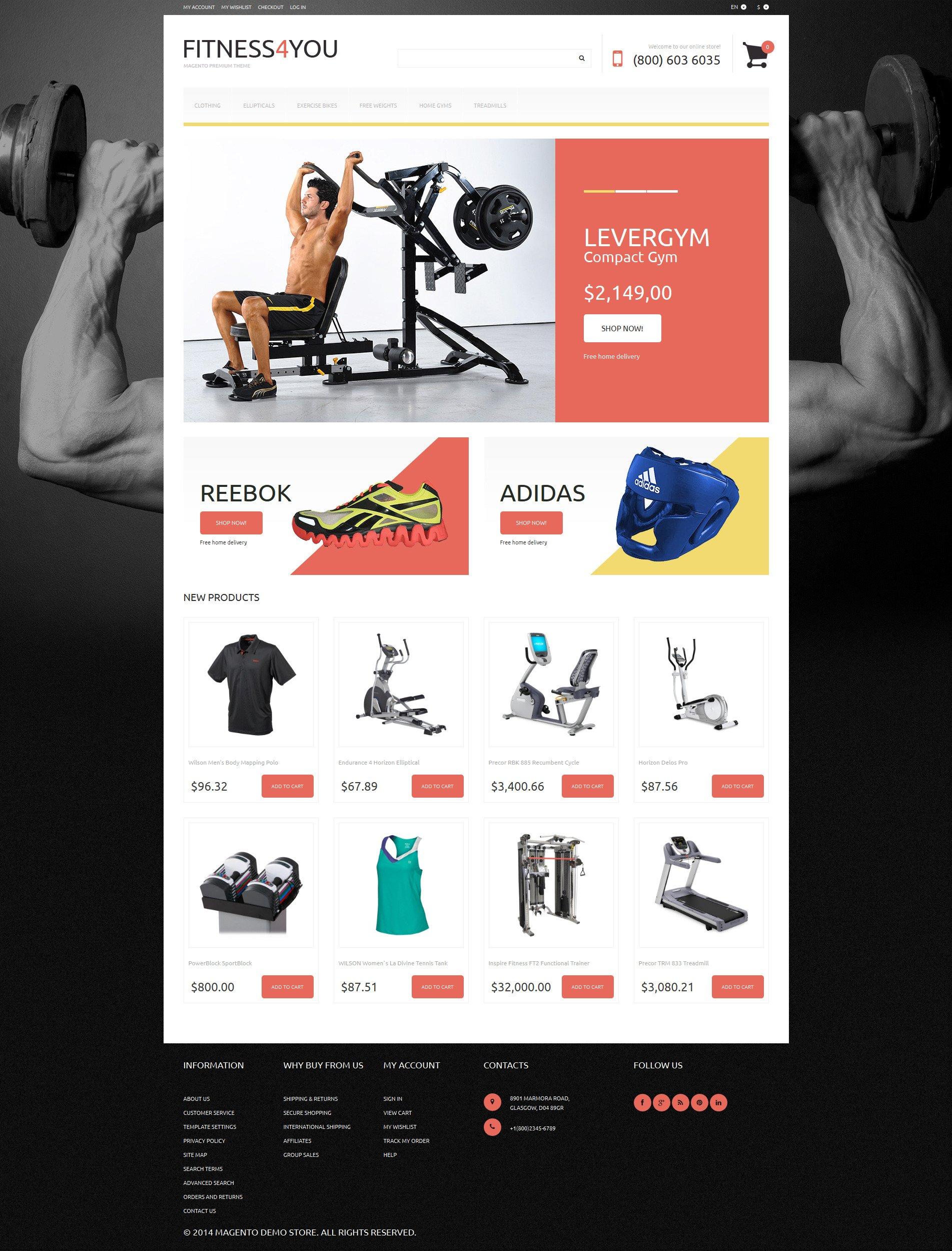 Fitness Responsive Magento Theme