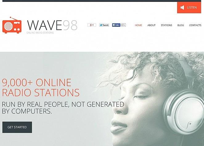 Flash CMS Vorlage #50645 für Radio Website