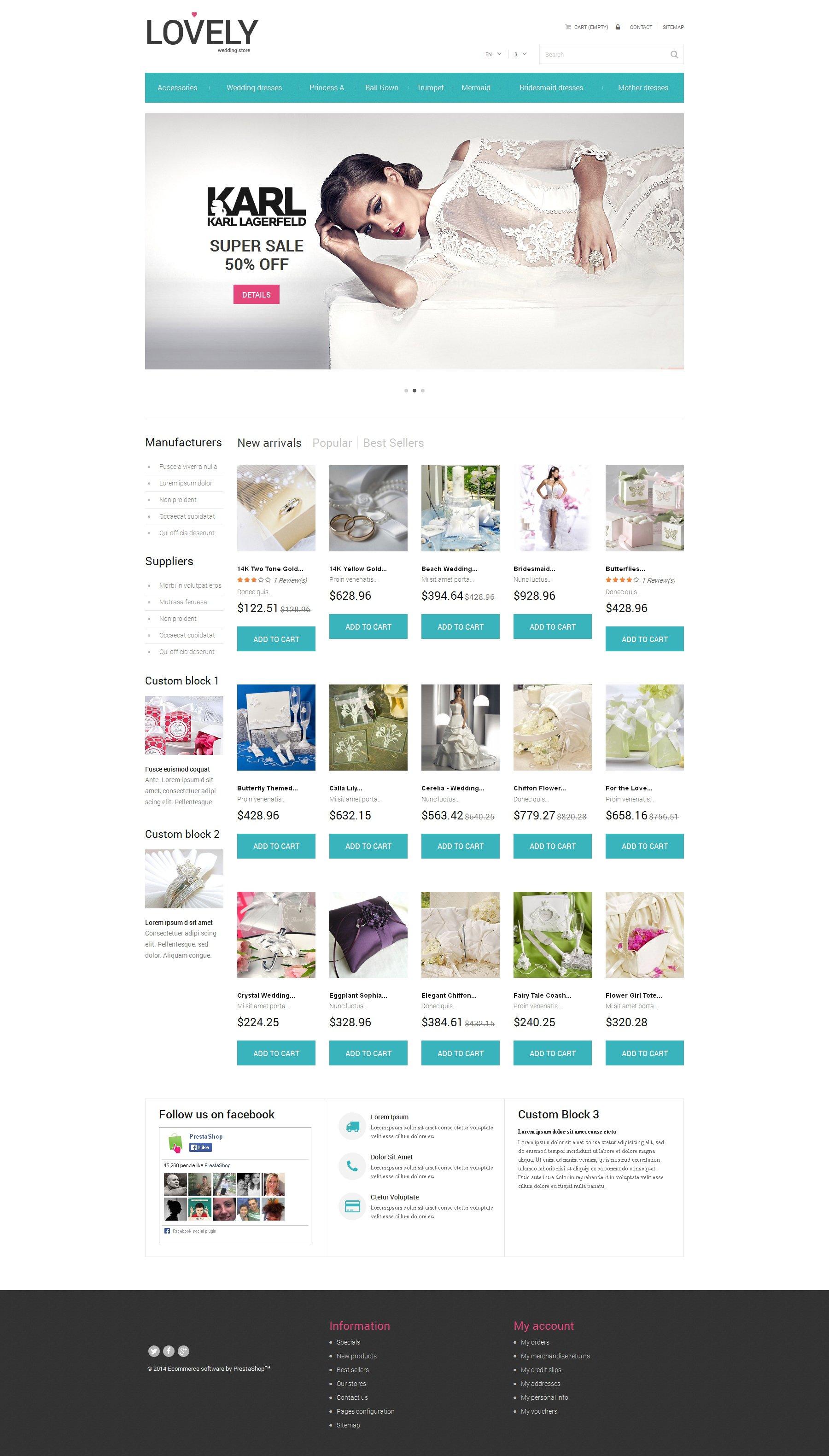 Free Wedding Shop PrestaShop Template PrestaShop Theme - screenshot