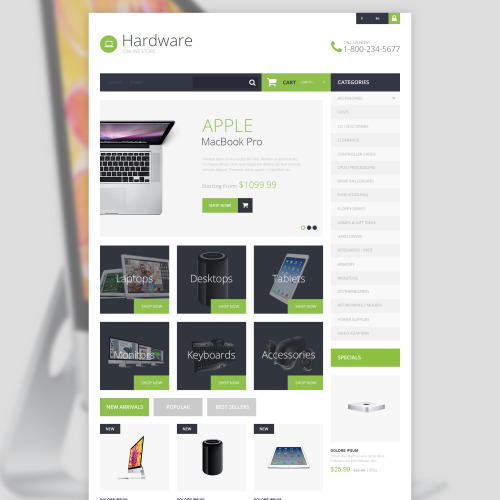 Hardware - PrestaShop Template based on Bootstrap