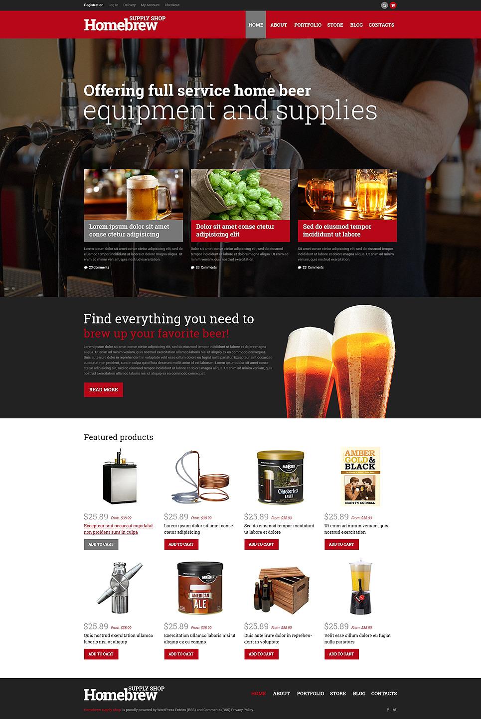 Homebrew Merchandise Store WooCommerce Theme New Screenshots BIG