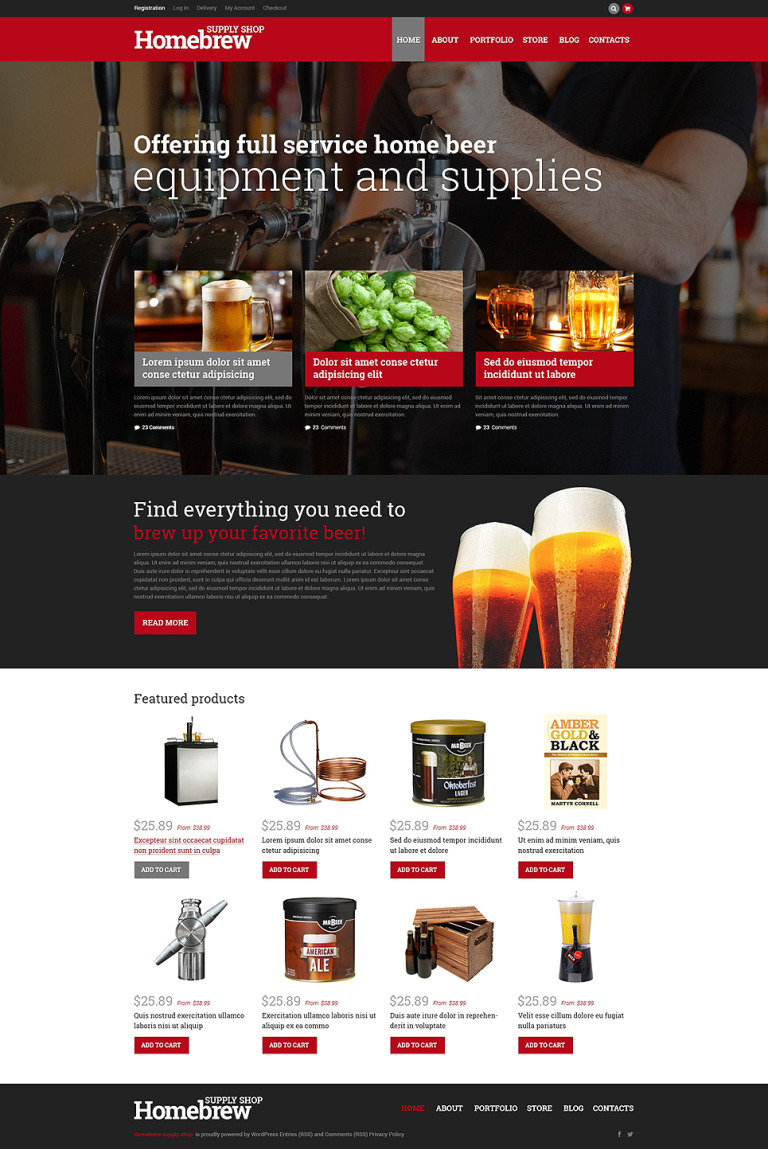 Homebrew Merchandise Store WooCommerce Theme New Screenshots BIG