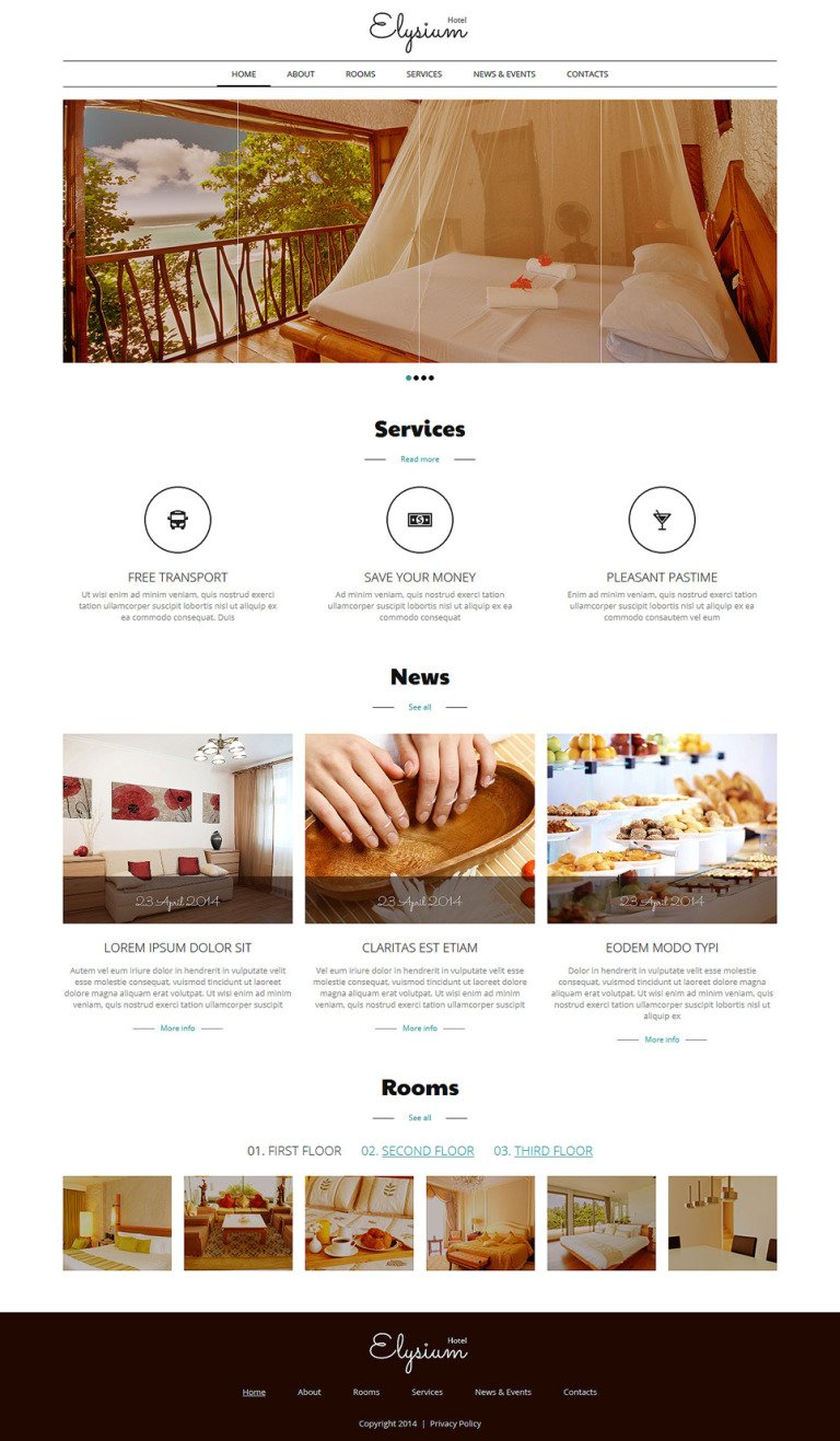 Hotels Motels Joomla Template New Screenshots BIG