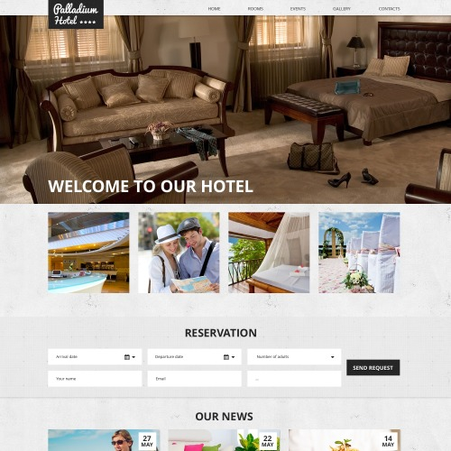 Palladium Hotels - Responsive Website Template