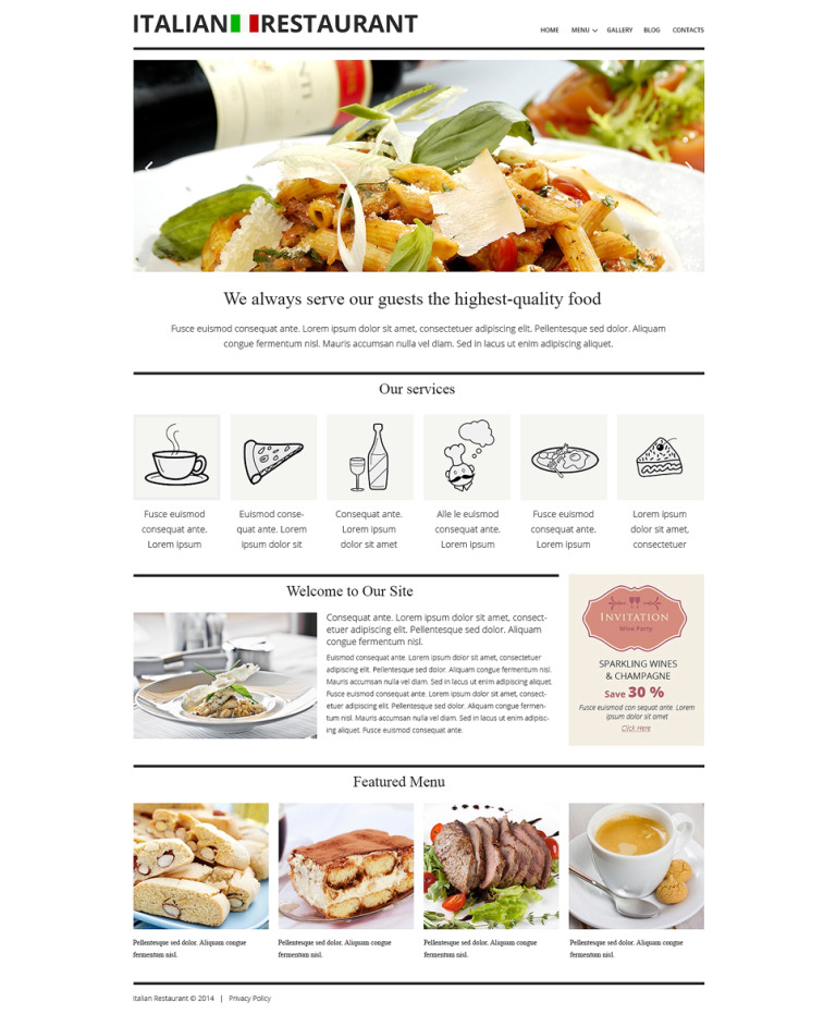 Italian Cuisine Restaurant Joomla Template New Screenshots BIG