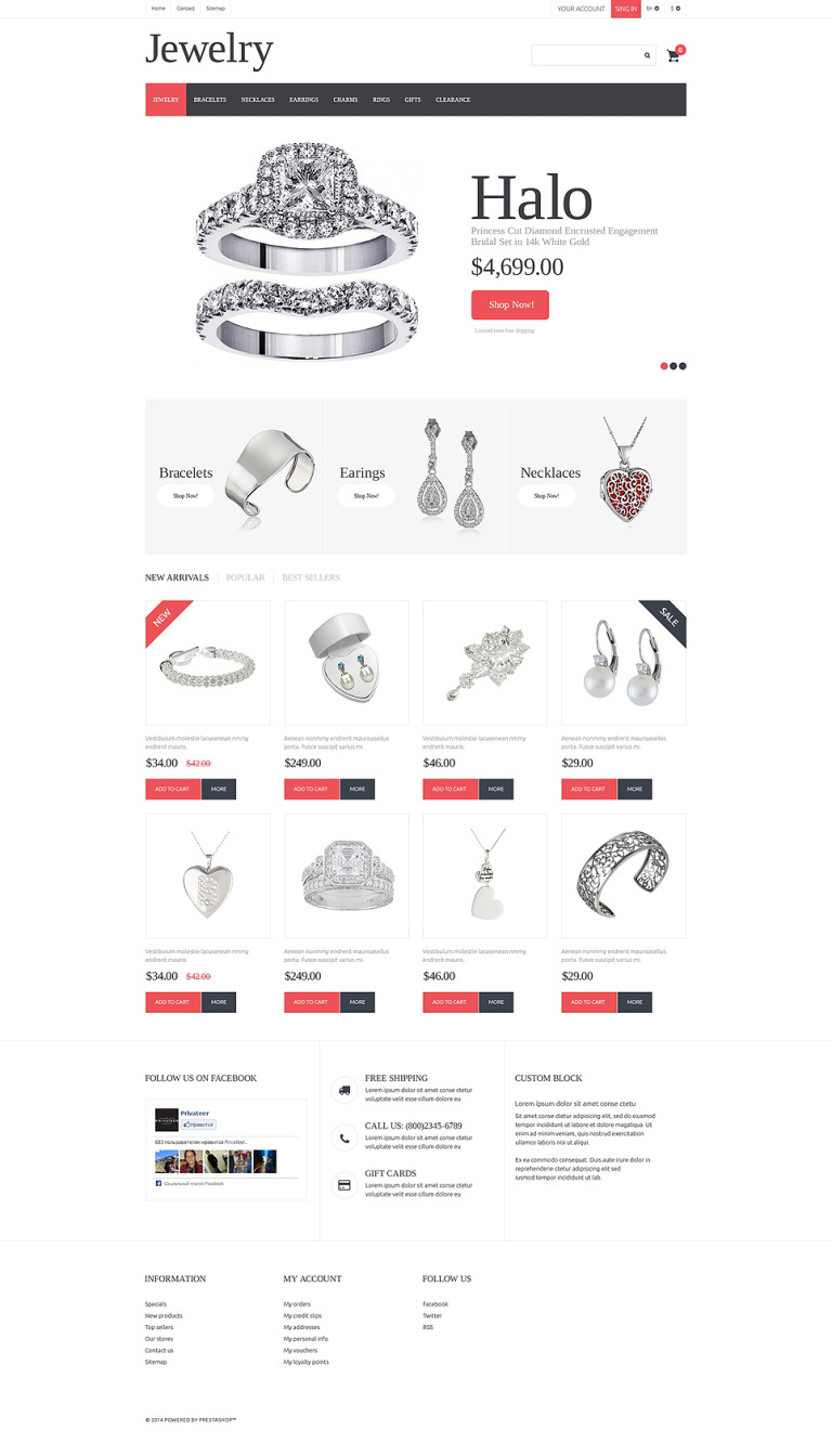 Jewelry PrestaShop Theme New Screenshots BIG