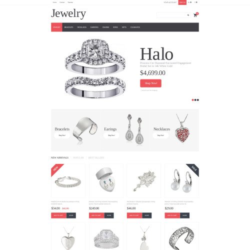 Jewelry - PrestaShop Template based on Bootstrap