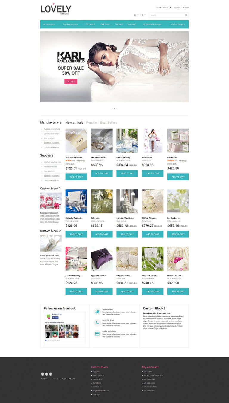 Lovely PrestaShop Theme New Screenshots BIG