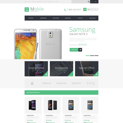 opencart bookstore template - mobile store opencart templates