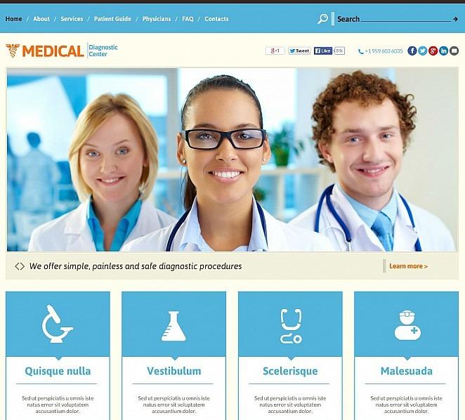 Modèle Flash CMS  pour site médical New Screenshots BIG