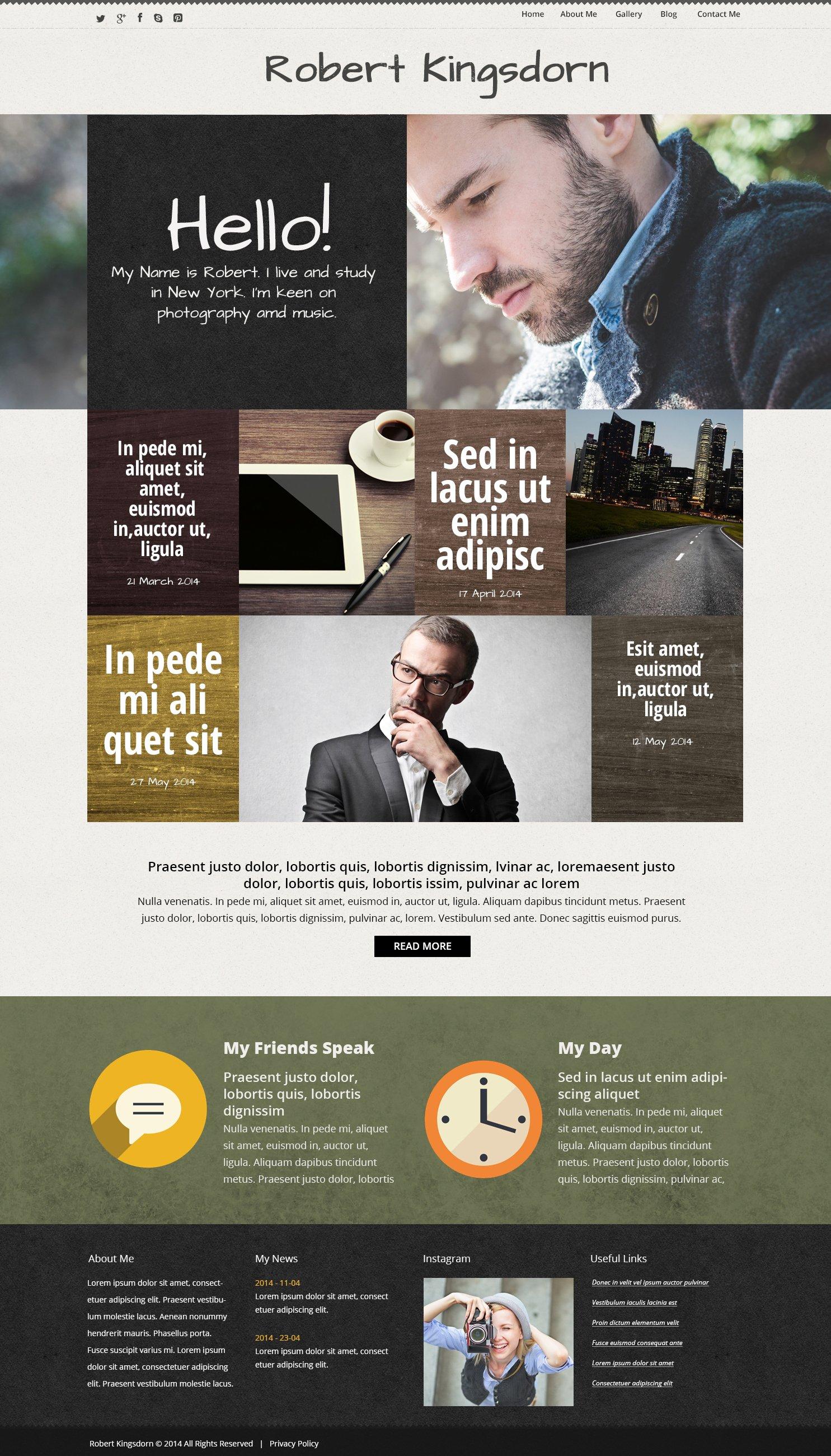 "Modello WordPress Responsive #50663 ""Personal  Career Page"" - screenshot"