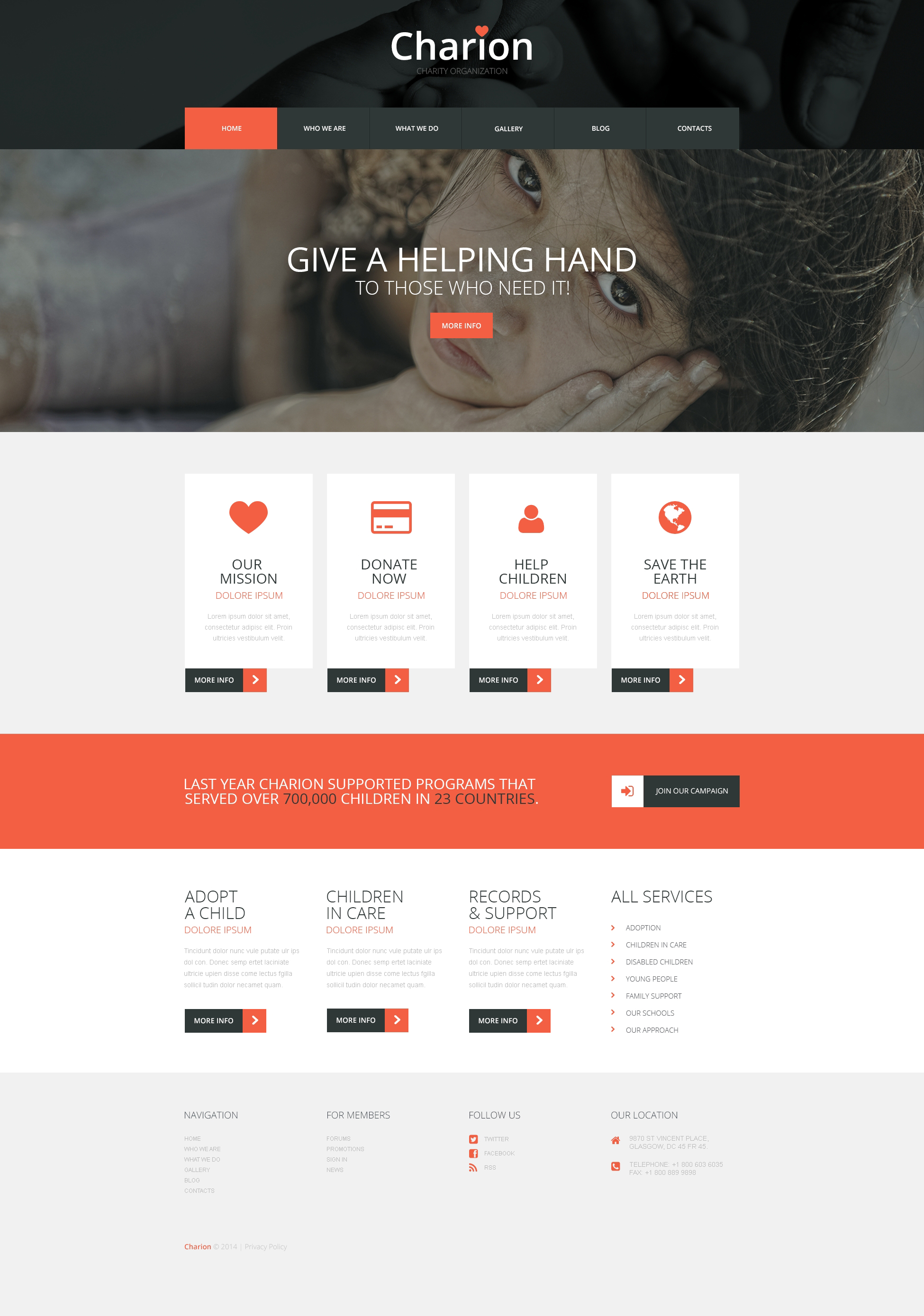 "Modello WordPress Responsive #50690 ""Tender Heart Community"""