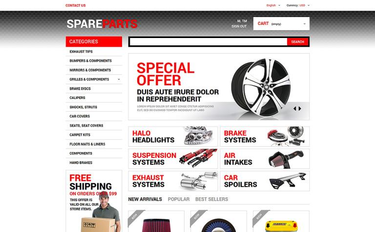 Motor Spares PrestaShop Theme