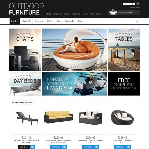 Outdoor Furniture - HTML5 ZenCart Template