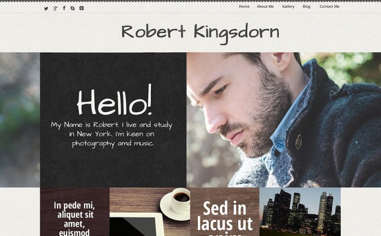 Personal Career Page WordPress Theme