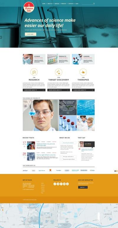 Responsive Plantilla Web #50688 para Sitio de  para Sitio de Laboratorios científicos