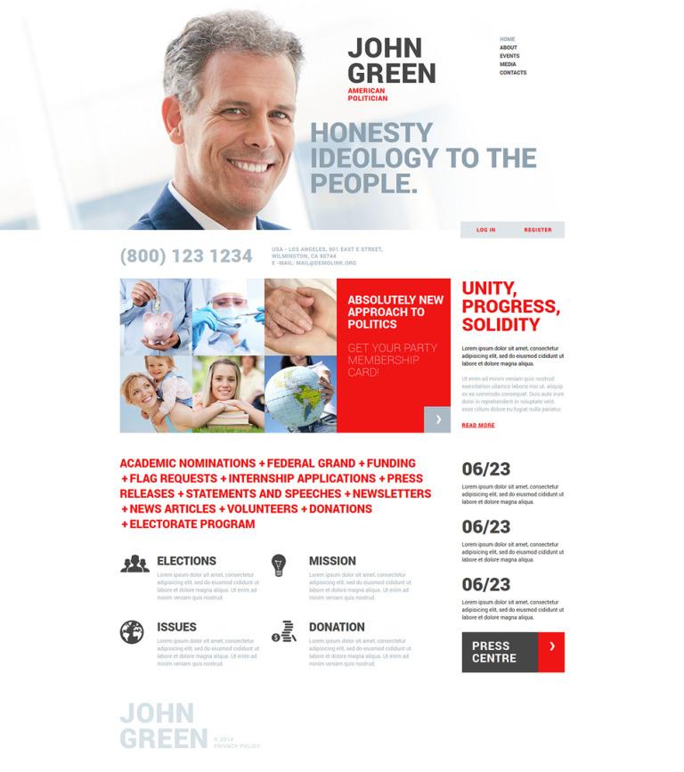 Portfolio for Politicians Joomla Template New Screenshots BIG