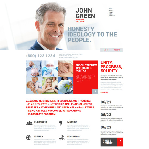 John Green - Joomla! Template based on Bootstrap