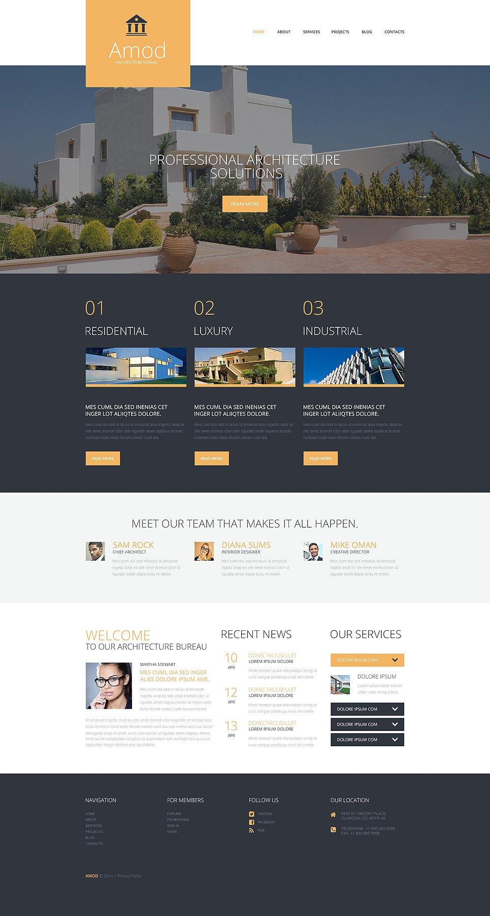Pro Construction Office WordPress Theme New Screenshots BIG