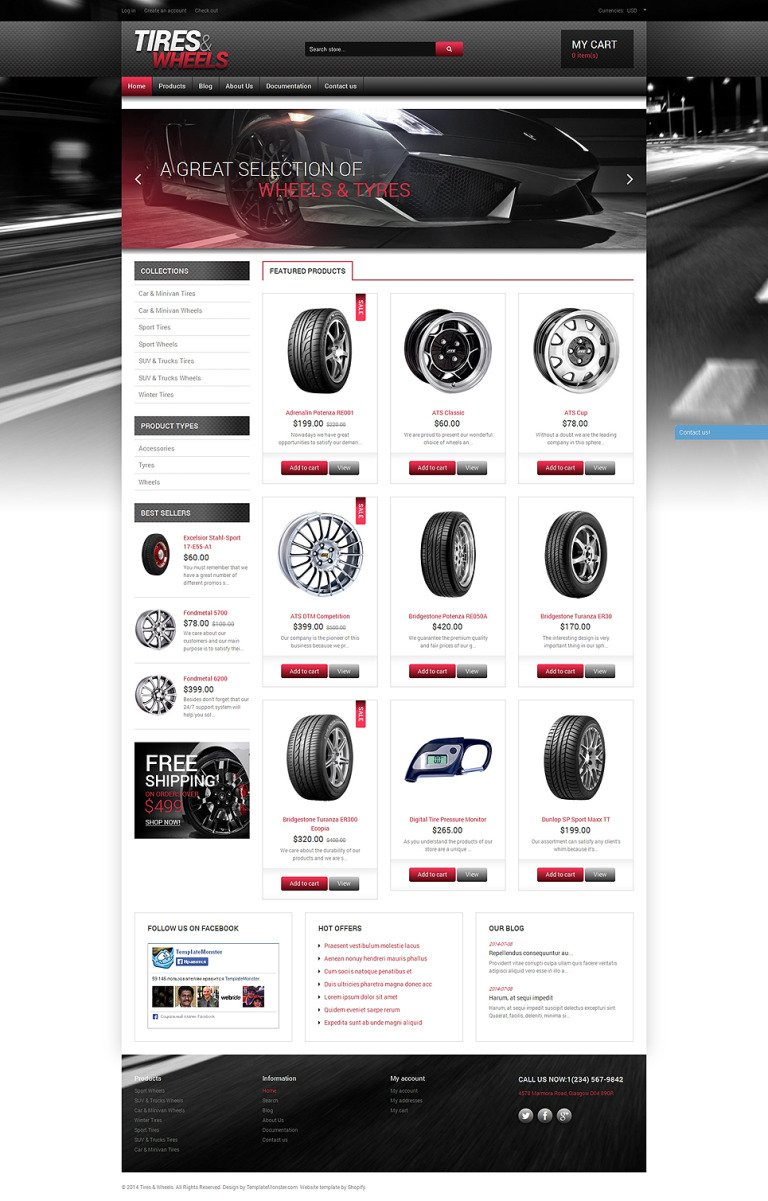 Quality Wheels and Tires Shopify Theme New Screenshots BIG