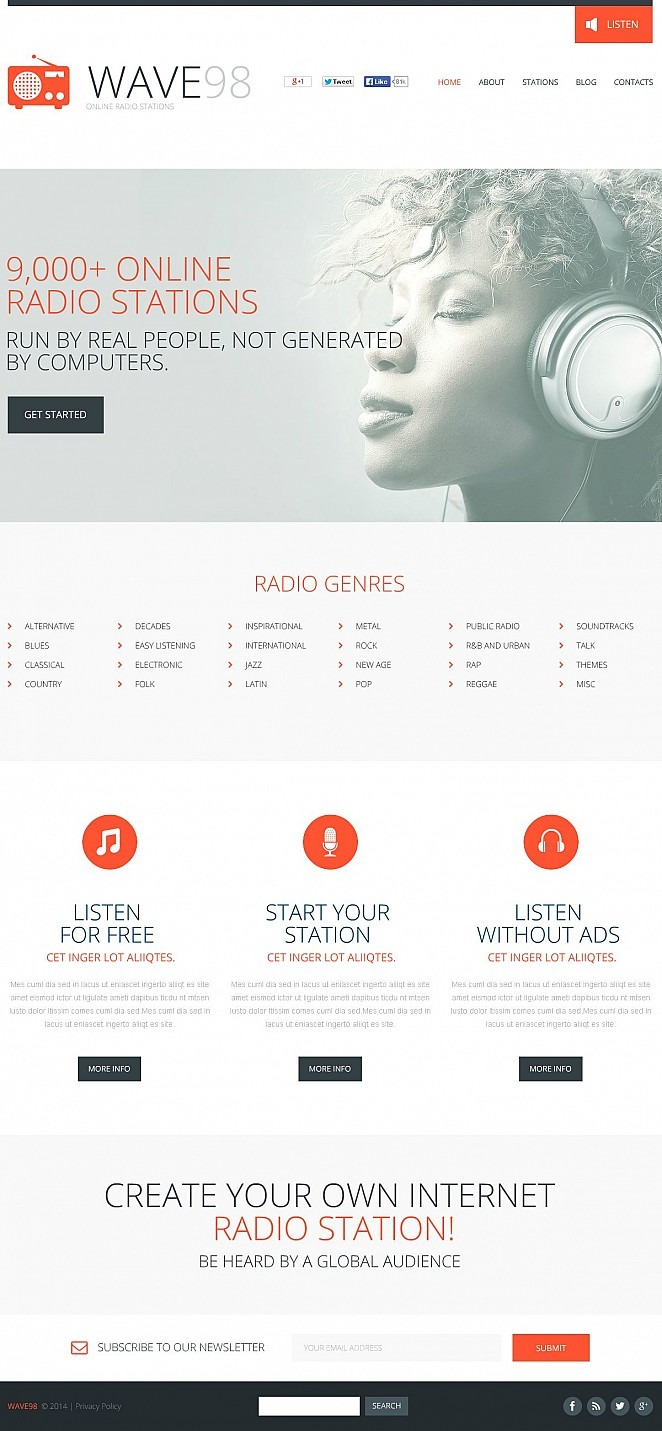 Radio Website Flash CMS Template New Screenshots BIG