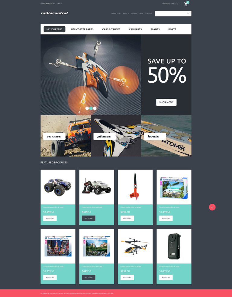 RC Toys VirtueMart Template New Screenshots BIG