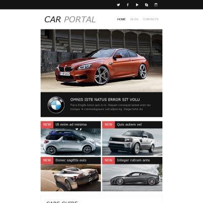 Responsive Newsletter Vorlage für Automobilclub